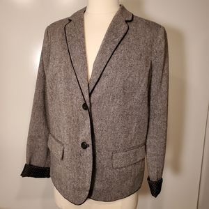 6 | GAP | Euro CONTAST CUFF WOOL BLEND BLAZER